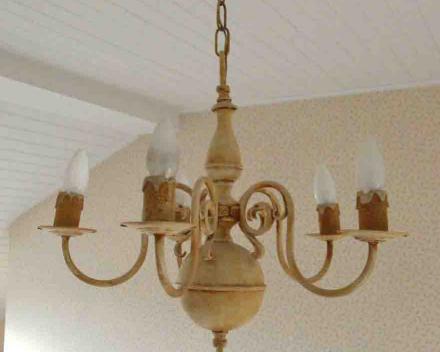 Patineren van oude bronzen luster